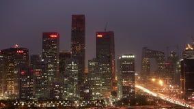 Beijing Financial skyline stock video footage