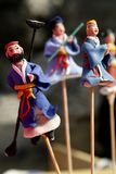 Beijing folk handicraft. Beijing clay figurine Royalty Free Stock Photos