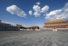 Beijing Forbidden City. Side of the Hall of Supreme Harmony Royalty Free Stock Photos