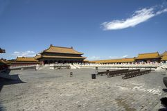 Beijing Forbidden city. China Beijing historic buildings Forbidden city royalty free stock image