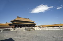 Beijing Forbidden city. China Beijing historic buildings Forbidden city stock photos