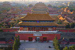 Beijing Forbidden City. Lying at the center of Beijing, the Forbidden City, called Gu Gong, in Chinese, was the imperial palace during the Ming and Qing Stock Image