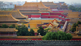 Beijing Forbidden City. Lying at the center of Beijing, the Forbidden City, called Gu Gong, in Chinese, was the imperial palace during the Ming and Qing royalty free stock image
