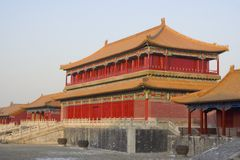 Beijing Forbidden City. Ancient Chinese architecture in the Forbidden City (Gu Gong) of Beijing Stock Image