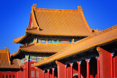 Beijing Forbidden City. Lying at the center of Beijing, the Forbidden City, called Gu Gong, in Chinese, was the imperial palace during the Ming and Qing royalty free stock photography