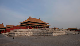 Beijing Forbidden City. Forbidden City in central Beijing, formerly known as the Forbidden City. Eighteen years in the Ming Dynasty Yongle (1420) completed the Royalty Free Stock Images