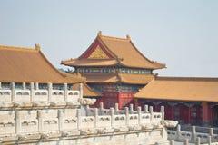 Beijing, the Forbidden City. Decorative roofs and tile inside the Forbidden City, Beijing Stock Photos