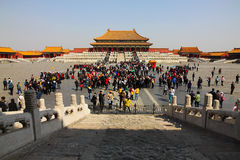Beijing Forbidden City. Located in the center of Beijing, formerly known as the Forbidden City. Built in the Ming Yongle eighteen years (1420), the Ming and Qing royalty free stock photography