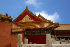 Beijing, Forbidden City. Beijing, China, The Forbidden City, Architectural Detail royalty free stock image