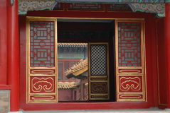 Beijing, Forbidden City. Beijing, China, The Forbidden City, building detail royalty free stock image