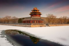 Beijing Forbidden City And Snows Stock Image