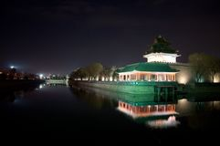 Beijing Forbidden City Corner Tower at Night royalty free stock photography