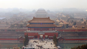Beijing, the Forbidden City Stock Photography
