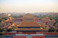 Beijing forbidden city at dusk Stock Image