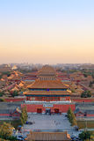 Beijing forbidden city at dusk Royalty Free Stock Photo