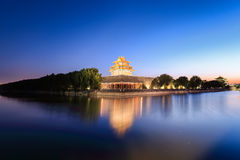 Beijing forbidden city at dusk Stock Photography