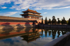 Beijing Forbidden City Gate of Divine Might Stock Photography