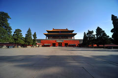 Beijing Forbidden City Gate of Divine Might Royalty Free Stock Photography