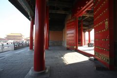 Beijing Forbidden City Gate Royalty Free Stock Photography