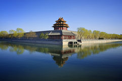 Beijing Forbidden City Gate Tower. Lying at the center of Beijing, the Forbidden City, called Gu Gong, in Chinese, was the imperial palace during the Ming and royalty free stock photography