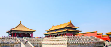 Beijing Forbidden City Hall of Preserving Harmony scenery Royalty Free Stock Photo