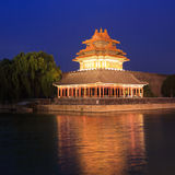 Beijing Forbidden City. Lying at the center of Beijing, the Forbidden City, called Gu Gong, in Chinese, was the imperial palace during the Ming and Qing stock photography
