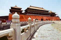 Beijing Forbidden City Meridian Gate Royalty Free Stock Photography