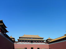 Beijing Forbidden City Meridian Gate Royalty Free Stock Photography