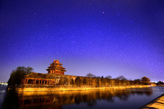 Beijing Forbidden City Night Royalty Free Stock Photography