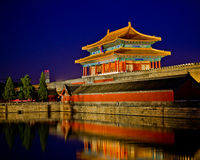 Beijing Forbidden City Night Royalty Free Stock Image