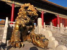Beijing Forbidden City Palace. Lying at the center of Beijing, the Forbidden City, called Gu Gong, in Chinese, was the imperial palace during the Ming and Qing royalty free stock photography