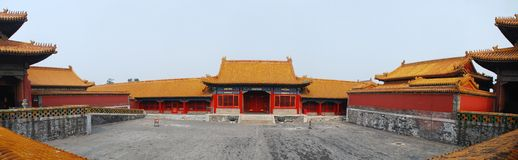 Beijing Forbidden City Panorama Royalty Free Stock Image