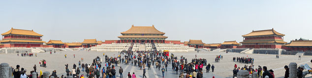 Beijing Forbidden City Panorama Royalty Free Stock Photography