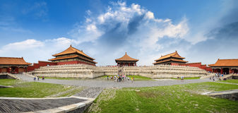 Beijing the forbidden city royalty free stock photo