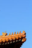 Beijing Forbidden City's eave Stock Image