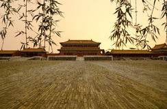 Beijing Forbidden city in sunset Stock Image