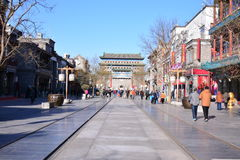 Beijing front street stock photography