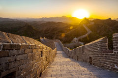 Beijing Great Wall sunset. Eastphoto, tukuchina, Beijing Great Wall sunset, Tourist destinations, Domestic Stock Images