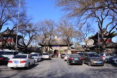 Beijing Guangji Temple. Beijing`s religion is free, mutual respect, but the Qing state religion is Buddhism, inherited, so Beijing Buddhist people, look at the Royalty Free Stock Photos