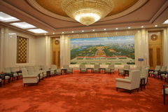 The Beijing Hall in the Great hall of the people in Beijing, China Stock Images