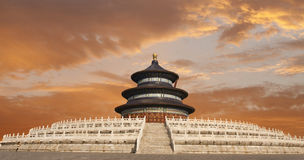 Beijing Heaven Temple in susnet Royalty Free Stock Photography