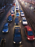Beijing heavy traffic jam and air pollution Royalty Free Stock Photography