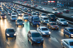 Beijing heavy traffic jam Royalty Free Stock Photography