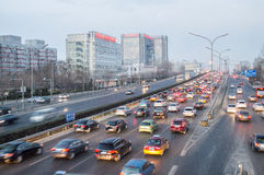 Beijing heavy traffic Royalty Free Stock Image