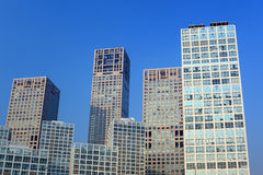 Beijing high-rise building. Modern high-rise commercial buildings in Beijing royalty free stock images