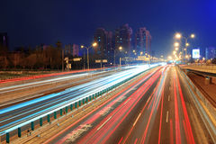 Beijing highway at night Royalty Free Stock Image
