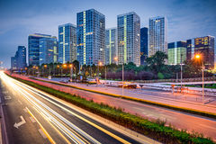 Beijing Highway and Skyline Stock Photography