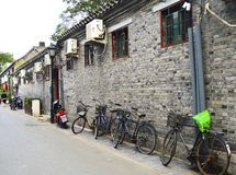 Beijing Hutong, the old Beijing residential area. stock photography