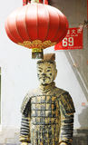Beijing hutong terracotta warriors Royalty Free Stock Images