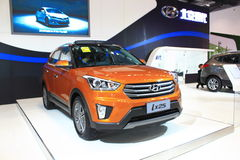 Beijing Hyundai ix25 orange edition Royalty Free Stock Images